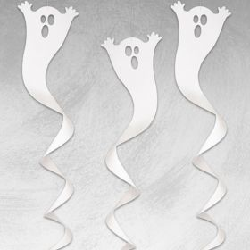 Ghost Spiral Hanging Decorations, pk3