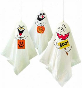 Halloween Hanging Ghost Decorations, pk3