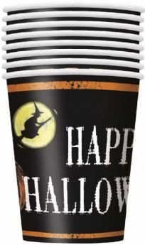 Ghostly Happy Halloween Paper Cups, pk8