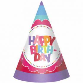 Girls Party Hats, pack of 8