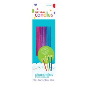 Glitter Sparkle Candles 17.7cm, pk18