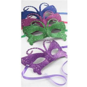 Brightly Coloured Glitter Masquerade Mask
