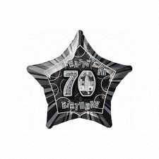 Black Glitz Star 70 Foil Party Balloon
