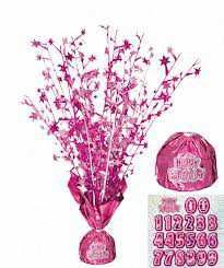 Pink Glitz Birthday Party Centerpiece Balloon Weight