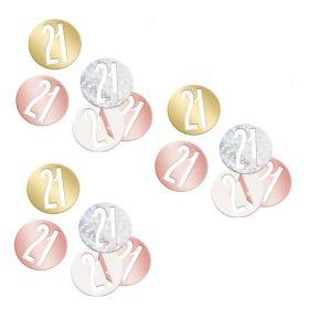 Glitz Rose Gold Age 21 Confetti 14g