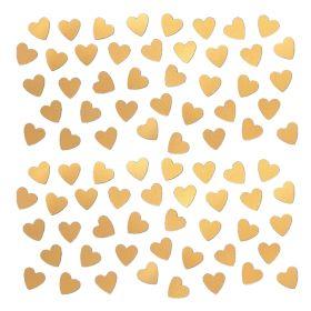 Gold Heart Shape Confetti