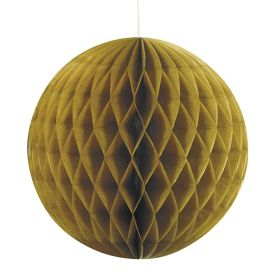 Gold Honeycomb Ball Party Decoration 20cm
