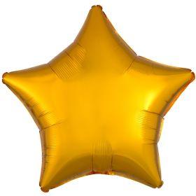 Gold Metallic Star Standard Foil Balloon 18''