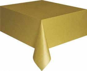 Value Gold Plastic Tablecover