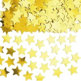 Gold Star Shapes Confetti