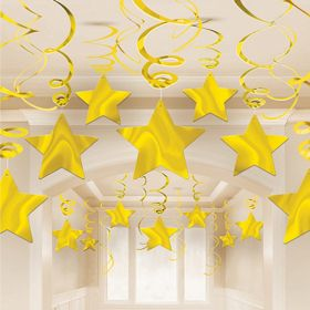 Gold Swirl Party Pack Shooting Stars