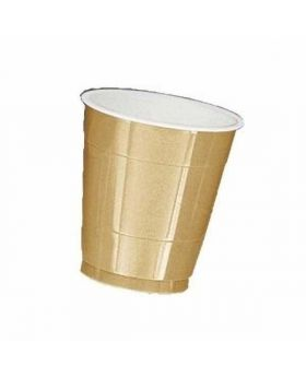 Gold Sparkle Plastic Party Cups 20pk