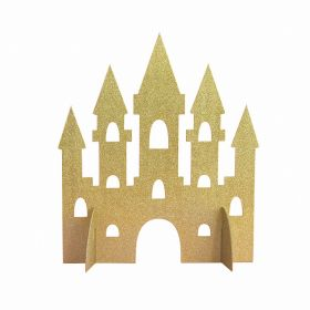 Gold Glitter Castle Table Decorations