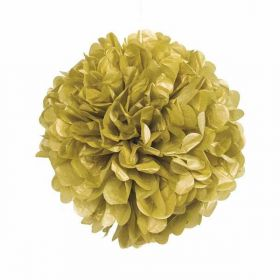 Gold Paper Puff Ball Hanging Party Decoration