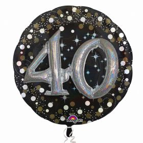 Gold Sparkling Celebration Sparkling 40th Foil Multi-Balloons