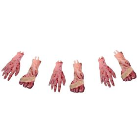 Gory Feet & Hand Garland Decorations