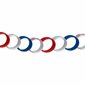 Great Britain Red/White/Blue Paper Chain - 20cm 6 PKG/100