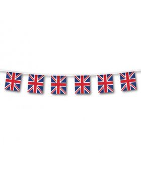 Great Britain Small Plastic Flag Bunting 3m