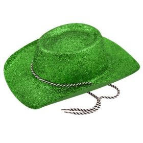 Green Glitter Cowboy Hat