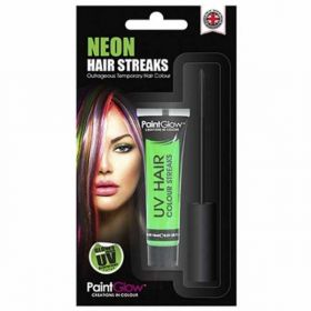 Neon Green Hair Streaks