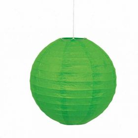 Round Lantern Lime Green Party Decoration 10""