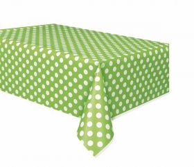Lime Green Polka Dot Party Tablecover