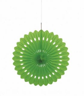 """Decorative Fan Lime Green Party Decoration 16"""""""
