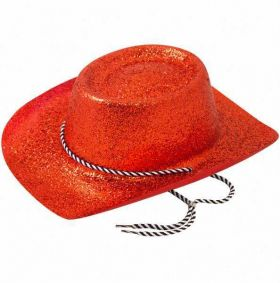 Red Glitter Cowboy Hat