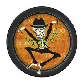 Orange Day of the Dead Halloween Plates