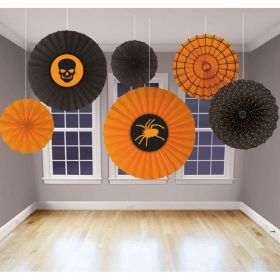 Assorted Halloween Paper Fan Decoration