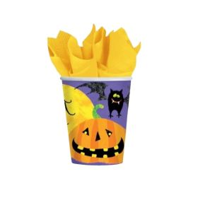 Halloween Gruesome Group Paper Cups 266ml, pk8