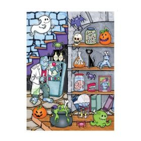 Scary Fun Monster Lab Colour On Clear Stickers, pk4