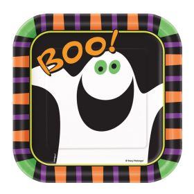 Halloween Pumpkin Boo Party Plates