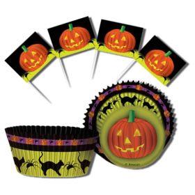 Halloween Pumpkin Cupcake Kit, 48pc