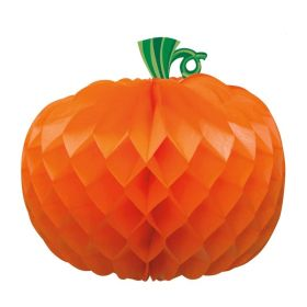 Pumpkin Shaped Honeycomb Centrepiece 11""
