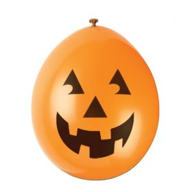 Halloween Pumpkin Face Latex Balloons