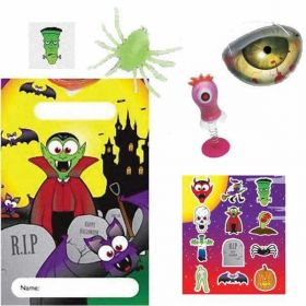 Spooky Halloween  Pre Filled Party Bags (no. 5), one supplied