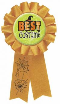 Halloween Best Costume Award Ribbon