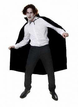 Vampire Black Halloween Cape