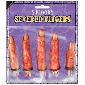 Halloween Bloody Severed Fingers