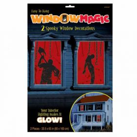Halloween Bloody Window Magic Decorations