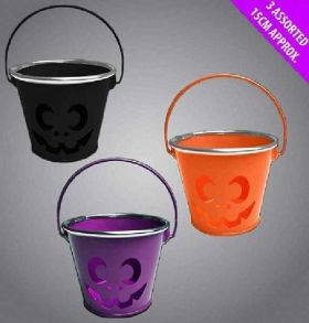 Pumpkin Bucket with Silver Rim