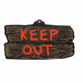 "Halloween ""Keep Out"" Cemetery Small Vac Form Sign"