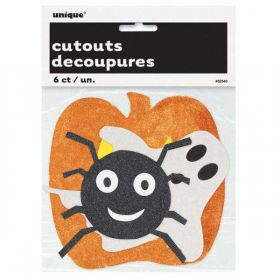 Halloween Mini Glitter Cutouts 6pk