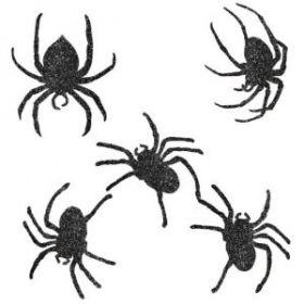 Halloween Glitter Spider Cutouts