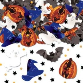 Halloween Scary Fun Embossed Confetti Mix