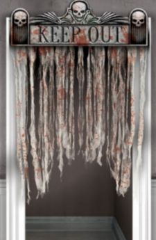 The Chop Shop Bloody Doorway Curtain