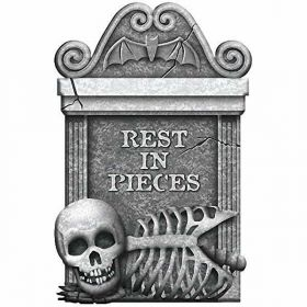 Rest In Pieces Halloween Tombstone
