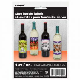 Halloween Wine Bottle Labels pk4