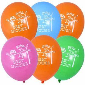 Happi Tree Baby Shower Latex Balloons pk6